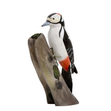 Great Spotted Woodpecker Wood Carving