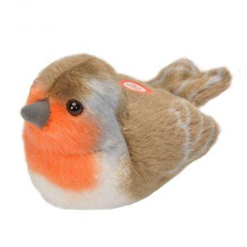 Peluches d'oiseaux avec chant – Rouge-gorge