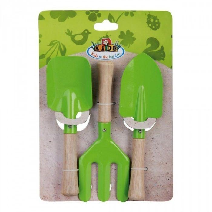Lot de 3 outils verts pour enfants