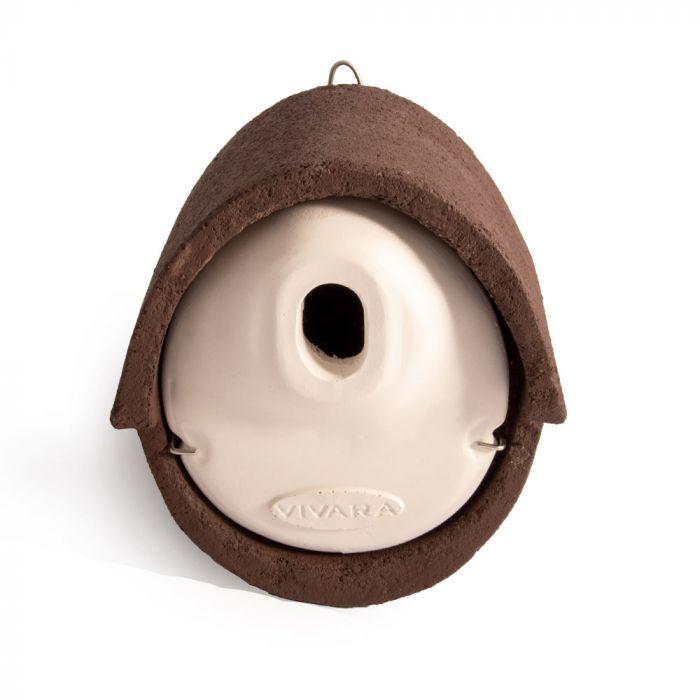 Nichoir Alicante WoodStone ® ouverture ovale - Brun
