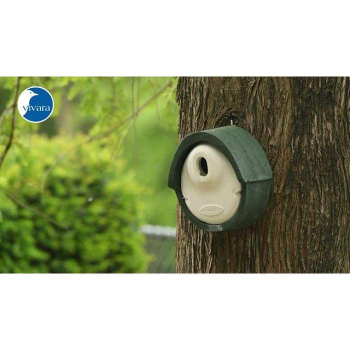 Nichoir Alicante WoodStone ® ouverture ovale - Vert