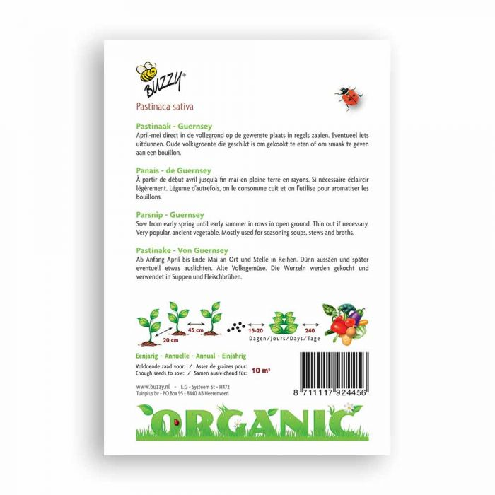Buzzy® Organic Panais de Geurnsey BIO