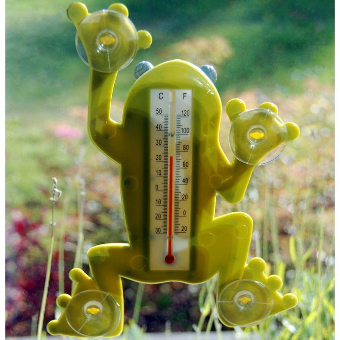 Thermomètre de fenêtre grenouille