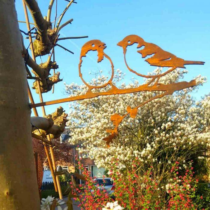 Oiseau en métal moineau domestique
