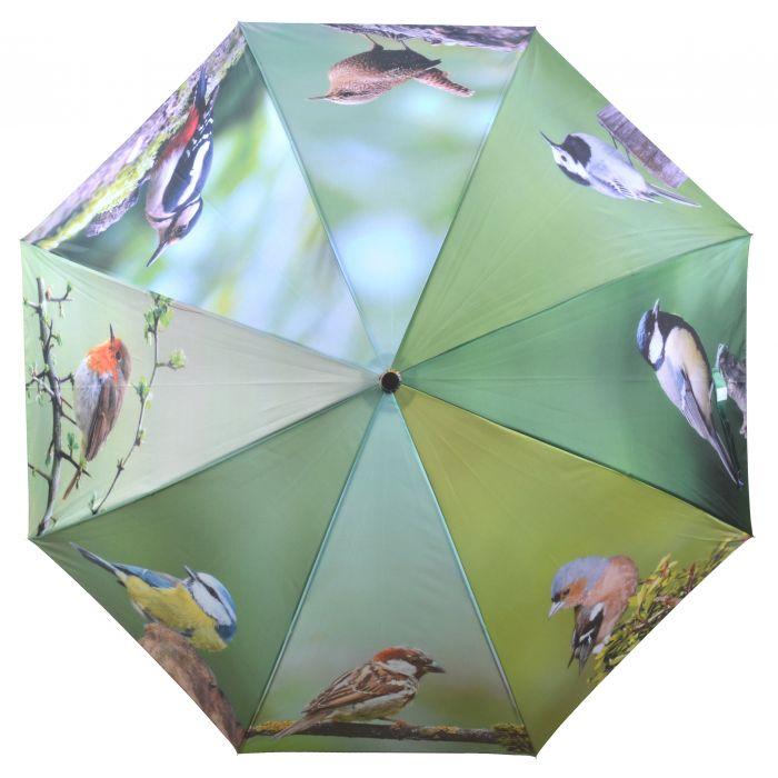 Parapluie avec oiseaux du jardin