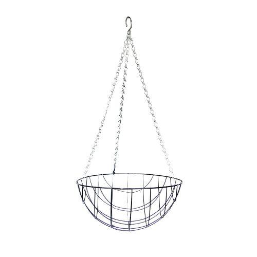 Jardinière métale & fibres de coco Ø 25cm