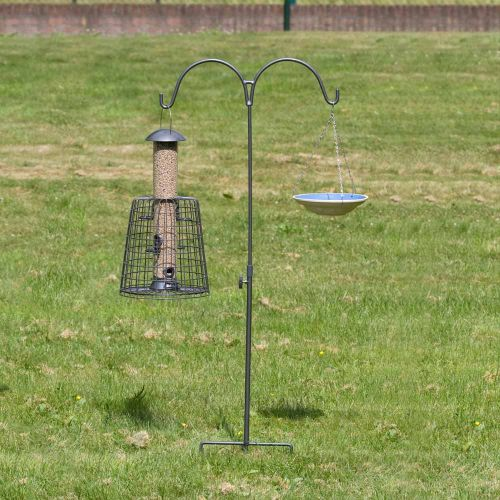 Feeder Pole Double - Grey