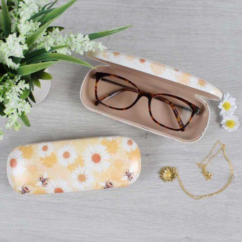 Étui à lunettes abeille et marguerite