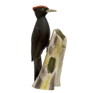 Black Woodpecker Wood Carving
