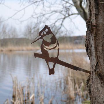 Martin-pêcheur en métal
