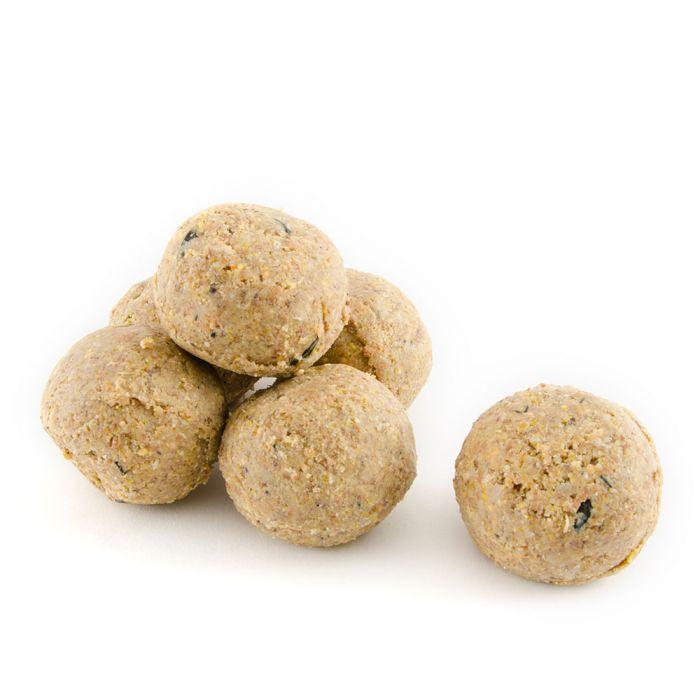 Boules de graisse avec vers de farine - 6 pièces