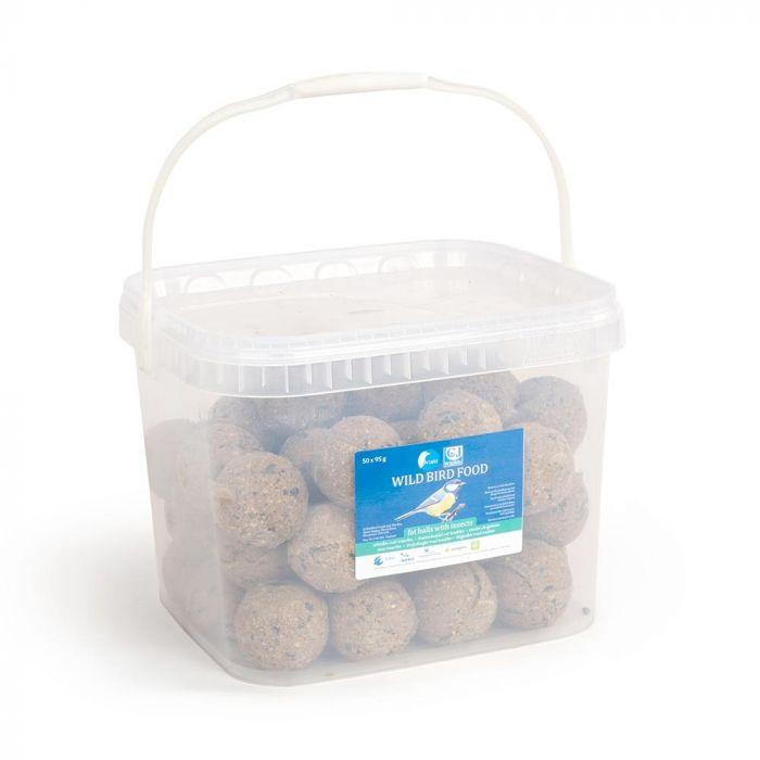 Boules de graisse avec insectes - bac de 50 pièces