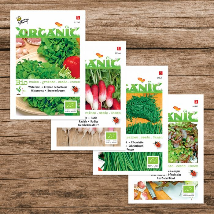 Pack mélange pour salade Buzzy® Seed Organic