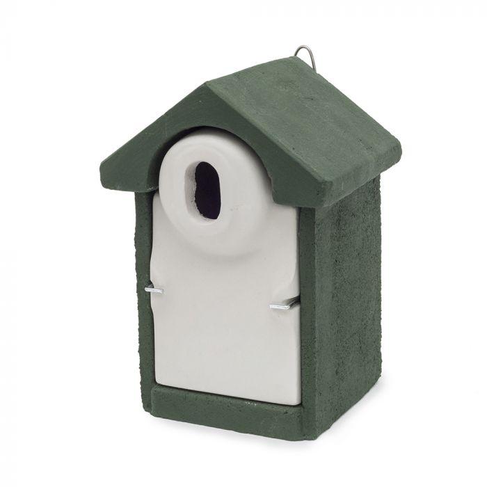 Nichoir Sevilla WoodStone ® Ouverture ovale - Vert