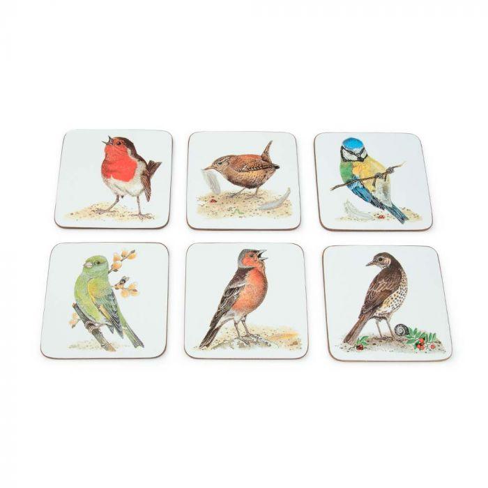 Dessous de verre avec oiseaux