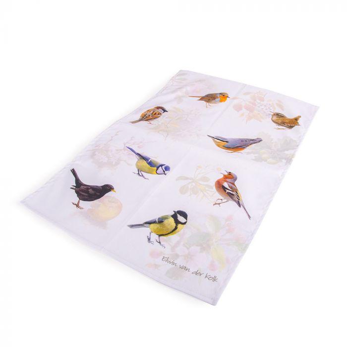Torchon oiseaux des jardin - Elwin van der Kolk