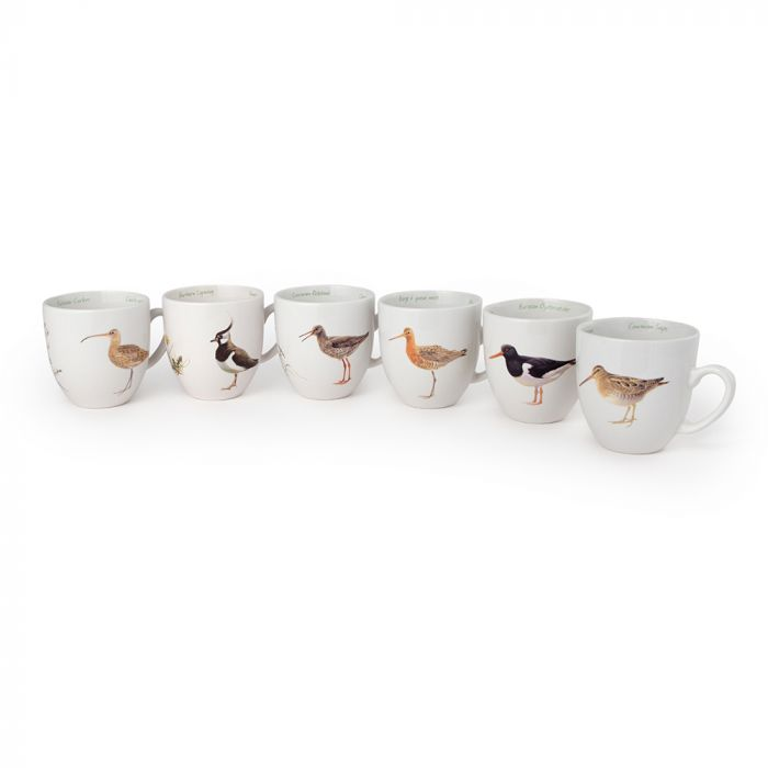 Lot de tasse oiseaux des Wadden et oiseaux des prairies (Elwin van der Kolk)